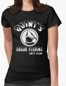 quints shark fishing amity island Funny Geek Nerd Womens Fitted T-Shirt