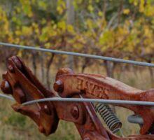 Autumn Vineyard - Sinclair's Gully, Norton Summit, Adelaide Hills Sticker