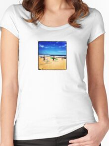 Surfers Austinmer New South Wales Australia Women's Fitted Scoop T-Shirt