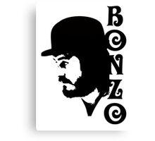 SOLID BLACK BONZO Canvas Print