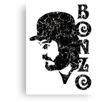 DISTRESSED BLACK BONZO Canvas Print