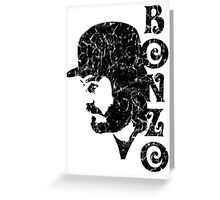 DISTRESSED BLACK BONZO Greeting Card