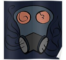 Abstract Gas Mask Poster