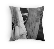 Wooden Dingy Throw Pillow