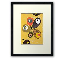 50s 60s style retro colourful design Framed Print