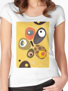 50s 60s style retro colourful design Women's Fitted Scoop T-Shirt