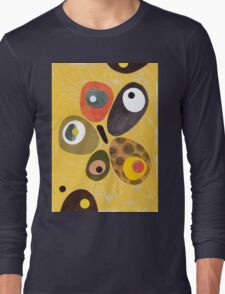 50s 60s style retro colourful design Long Sleeve T-Shirt
