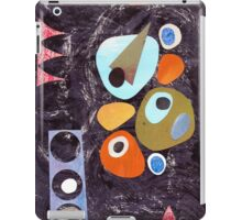 Retro atomic colourful graphic black  iPad Case/Skin