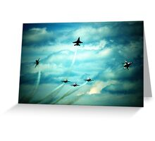 Air Force Thunderbirds  Greeting Card