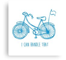 Hipster bicycle - blue Canvas Print