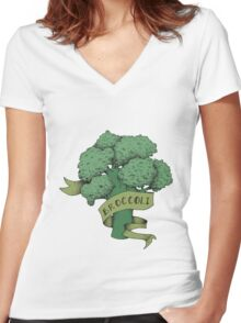 broc Women's Fitted V-Neck T-Shirt