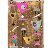 Funky abstract mid century style pink colourful iPad Case/Skin