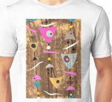 Funky abstract mid century style pink colourful Unisex T-Shirt