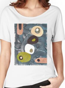 Abstract mid century retro style Women's Relaxed Fit T-Shirt