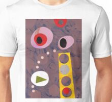 Cool greys, simple shapes retro artwork collage Unisex T-Shirt