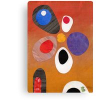 Warm rich colour abstract retro styling painting collage Canvas Print