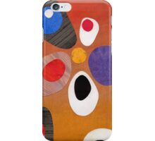 Warm rich colour abstract retro styling painting collage iPhone Case/Skin