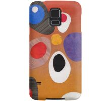 Warm rich colour abstract retro styling painting collage Samsung Galaxy Case/Skin