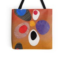 Warm rich colour abstract retro styling painting collage Tote Bag
