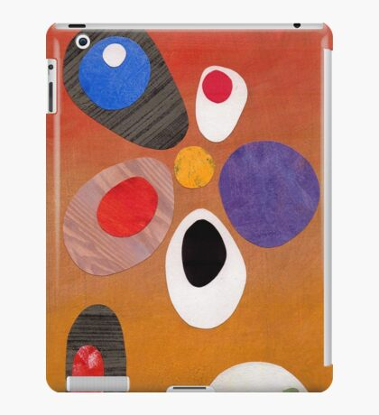 Warm rich colour abstract retro styling painting collage iPad Case/Skin