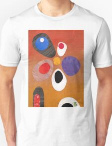 Warm rich colour abstract retro styling painting collage T-Shirt