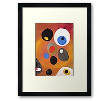 Retro abstract in rich warm colours Framed Print