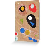 Funky retro style abstract Greeting Card