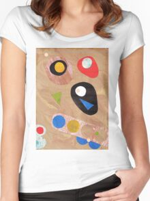Funky retro style abstract Women's Fitted Scoop T-Shirt