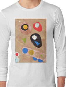 Funky retro style abstract Long Sleeve T-Shirt