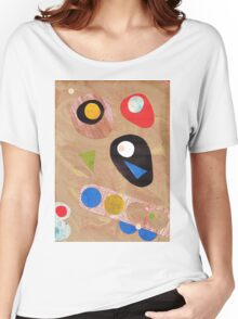 Funky retro style abstract Women's Relaxed Fit T-Shirt