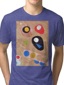Funky retro style abstract Tri-blend T-Shirt