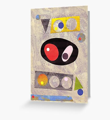 Mid Century Style Collage Greeting Card