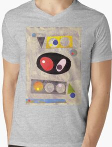 Mid Century Style Collage Mens V-Neck T-Shirt