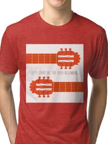Sound of music guitar quote Tri-blend T-Shirt