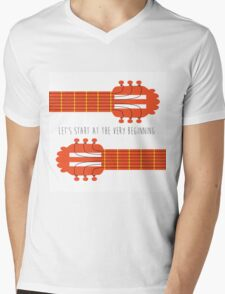 Sound of music guitar quote Mens V-Neck T-Shirt