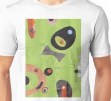 Wood Grained Green Unisex T-Shirt