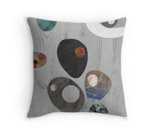 Cool Grey Throw Pillow