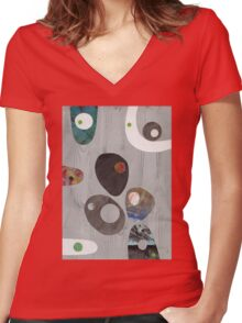 Cool Grey Women's Fitted V-Neck T-Shirt