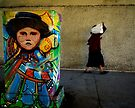 Lady Under Overpass by Larry Costales