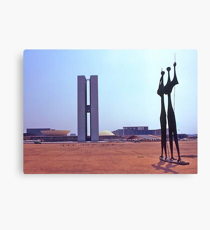 Parliament Buildings, Brasilia. Brazil. 1972. Canvas Print