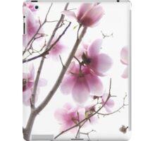Pink magnolia flowers iPad Case/Skin