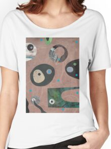 Retro Collage Pale Teracotta Women's Relaxed Fit T-Shirt