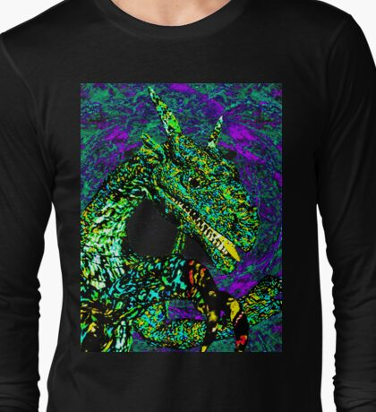 Wave to The Dragon Long Sleeve T-Shirt