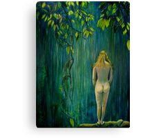 Nude by Waterfall Canvas Print