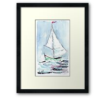 Sail away from the safe harbour Framed Print