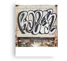 Curvy Tag Canvas Print