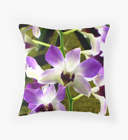 Purple Orchid (Critiques Welcome) Throw Pillow