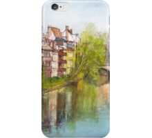 River Pegnitz in the Old Town of Nuremberg, Germany iPhone Case/Skin