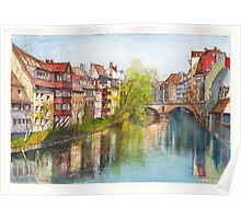 River Pegnitz in the Old Town of Nuremberg, Germany Poster