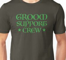Groom Support CREW (in Medieval wedding script) Unisex T-Shirt